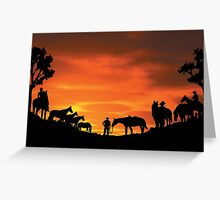 Outback Stockmen Greeting Card