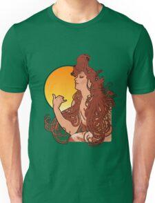 Alphonse Mucha Art Nouveau Vintage Design Unisex T-Shirt