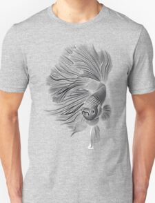 Black and White Betta Fish Unisex T-Shirt
