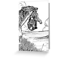Lion With Cub Greeting Card