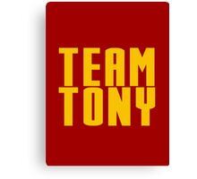 Team Tony Canvas Print