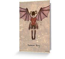 Demon Boy Greeting Card