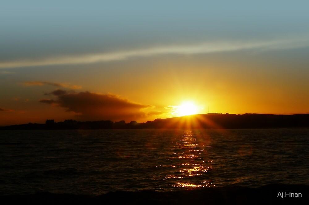 Sunbeams At Elie, Scotland. by Aj Finan