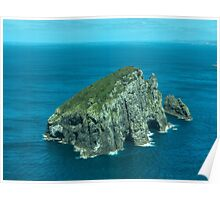 Piercy Island off Cape Brett, New Zealand.......! Poster