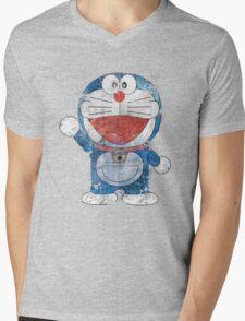 Doraemon Mens V-Neck T-Shirt