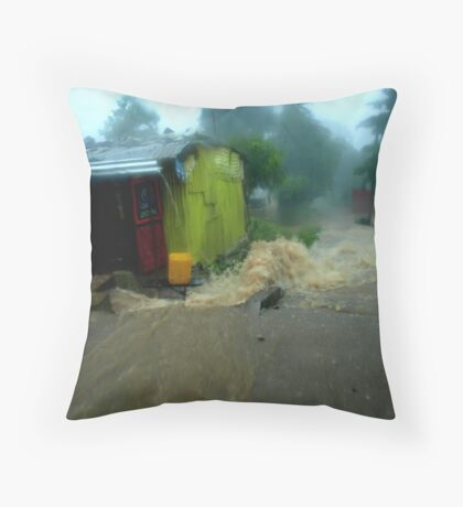 Rain in Freetown Throw Pillow