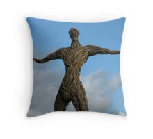 Wickerman #2 ~ Give Us A Hug Throw Pillow