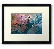 Patchwork-Pieces of different materials Framed Print
