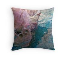Patchwork-Pieces of different materials Throw Pillow
