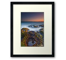 Craters at Boomer Beach Framed Print