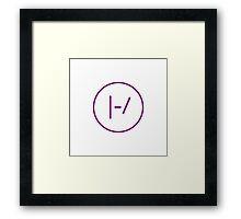 PURPLE Minimalistic Twenty One Pilots Logo Framed Print