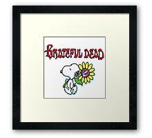 Snoopy flowers Framed Print