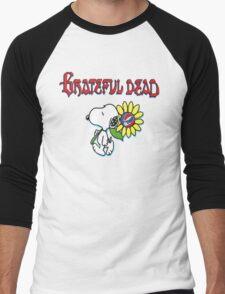 Snoopy flowers Men's Baseball ¾ T-Shirt