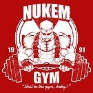 Nukem Gym by coinbox tees