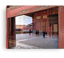 Reflection, Forbidden City, Beijing, China Canvas Print