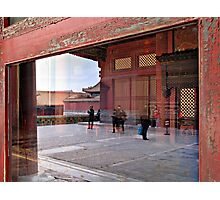 Reflection, Forbidden City, Beijing, China Photographic Print