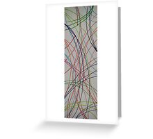 Colors on White Greeting Card