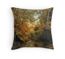 Riverbank Reflection Throw Pillow