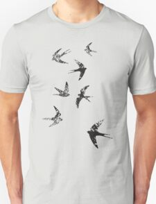 Charcoal Swallows Unisex T-Shirt