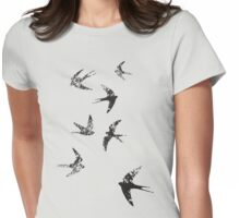 Charcoal Swallows Womens Fitted T-Shirt