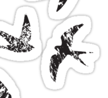 Charcoal Swallows Sticker