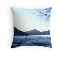 more skiing Throw Pillow