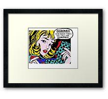 Roy Lichtenstein Comic Art - Girl with Gloves Framed Print
