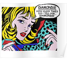 Roy Lichtenstein Comic Art - Girl with Gloves Poster