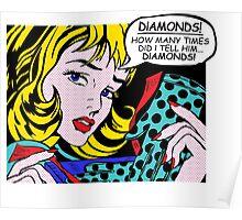 Roy Lichtenstein Comic Art - Girl with Gloves Poster