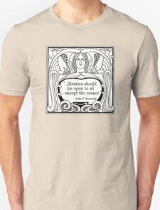 JFK Quote About Libraries Unisex T-Shirt