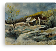 Remote houses in the Ardennes  Canvas Print