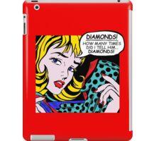 Roy Lichtenstein Comic Art - Girl with Gloves iPad Case/Skin