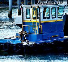 Little Blue Tug by Carrie Blackwood