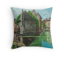 Annecy - The Venice of France Throw Pillow