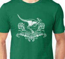 Kangaroo Sanctuary Crest - white Unisex T-Shirt