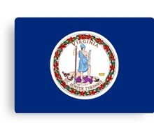 State Flags of the United States of America -  Virginia Canvas Print
