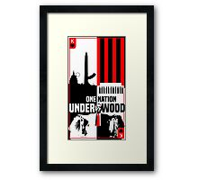 One Nation Underwood Framed Print