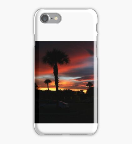 SABEL PALM PLAZA SUNSET iPhone Case/Skin