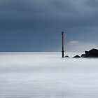 marker, aberdeen beach by codaimages