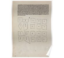 Measurement With Compass Line Leveling Albrecht Dürer or Durer 1525 0056 Repeating Shapes Poster