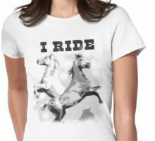 I Ride - Vintage Cowboy Womens Fitted T-Shirt