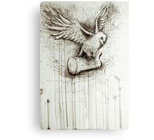 Owl Takes Off Canvas Print