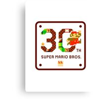 Super Mario 30th Anniversary Canvas Print