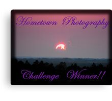 Hometown's Challenge Winner Banner Canvas Print