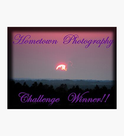 Hometown's Challenge Winner Banner Photographic Print