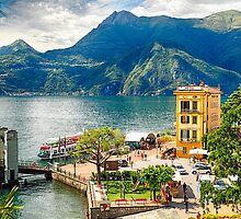 Varenna Harbor on Lake Como, Lombardy, Italy by George Oze