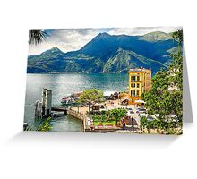 Varenna Harbor on Lake Como, Lombardy, Italy Greeting Card