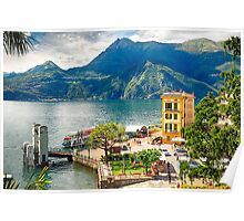 Varenna Harbor on Lake Como, Lombardy, Italy Poster