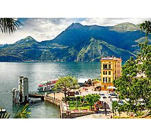 Varenna Harbor on Lake Como, Lombardy, Italy Photographic Print