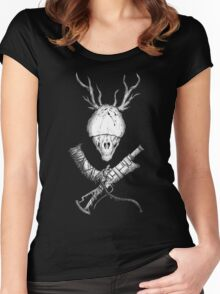 Bloodborne CrossWeapons(white) Women's Fitted Scoop T-Shirt